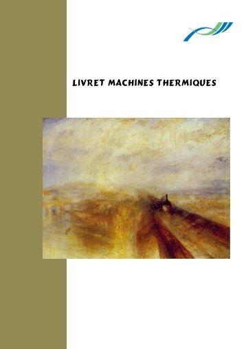 LIVRET MACHINES THERMIQUES