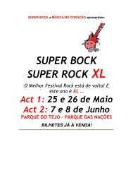 SUPER BOCK SUPER ROCK XL