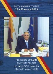 resoconto di 5 anni di attività politica nel municipio roma xv elezioni ...