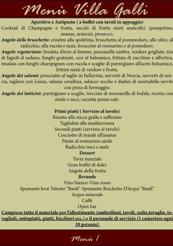 download Menu PDF - Villa Galli