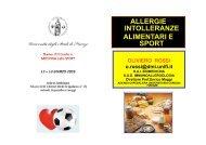allergie intolleranze alimentari e sport - Medicina e Chirurgia