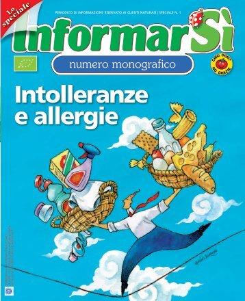 Intolleranze e allergie   NUMERO SPECIALE 1 - NaturaSì