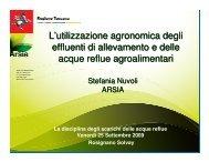 L'utilizzazione agronomica degli effluenti di allevamento e delle ...