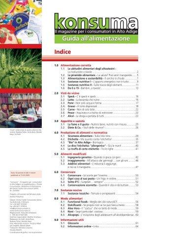 Guida alimentazione - Centro Tutela Consumatori Utenti