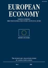 European Economy . Reports and Studies 4/2001. The budgetary ...