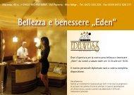 "Bellezza e benessere ""Eden"" - Hotel Edelweiss"