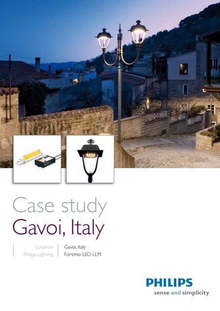 Download PDF 'Case study Gavoi, Italy' - Philips Lighting