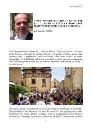 dal 4 al 7 luglio la decima edizione del festival letterario ... - Luigi Ladu