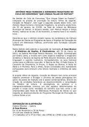 ANTÓNIO MEGA FERREIRA E FERNANDA FRAGATEIRO NO ...