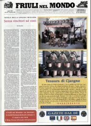 Tesaurs di Cjargne - Ente Friuli nel Mondo