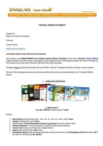 PROPOSAL PEMBUATAN WEBSITE Kepada Yth ... - Desain Website