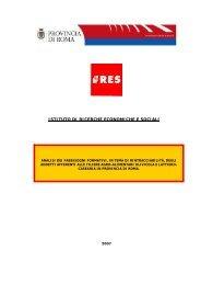 ISTITUTO DI RICERCHE ECONOMICHE E SOCIALI - Ires