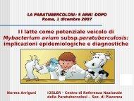 Mybacterium avium.pdf - IZS della Lombardia e dell'Emilia Romagna