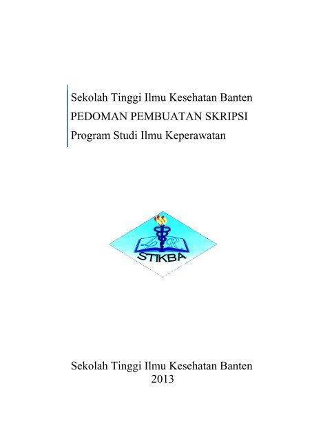 Buku Panduan Pembuatan Skripsi Stikes Banten