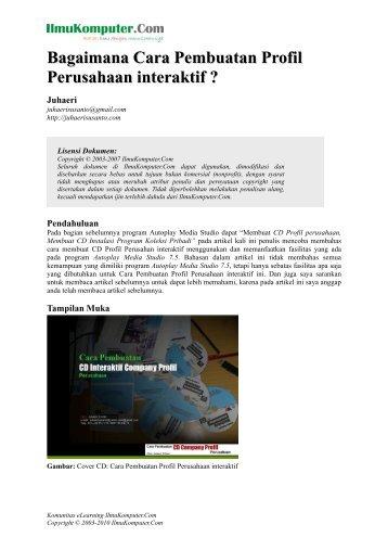 Bagaimana Cara Pembuatan Profil Perusahaan interaktif ?