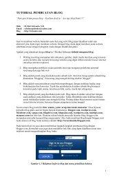 TUTORIAL PEMBUATAN BLOG - Web Blog Referensi Dosen