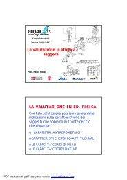 La valutazione in atletica leggera moisè - Fidal Piemonte