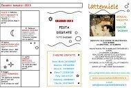 Scarica il calendario - Associazione LatteMiele