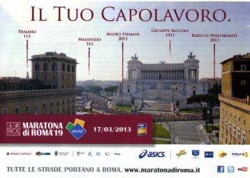 locandina Maratona di Roma 2013