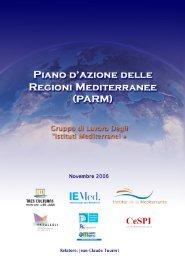 Piano d'azione delle Regioni mediterranee (PARM) - CeSPI