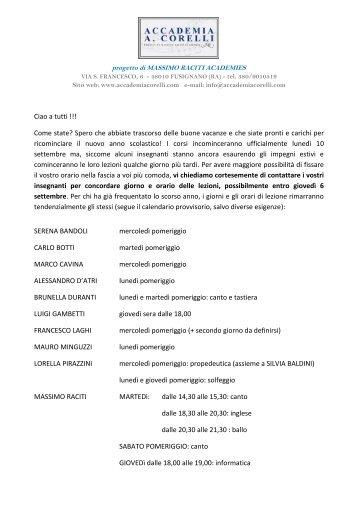 scarica il regolamento per l'a.s. 2012 -2013 - ACCADEMIA A ...