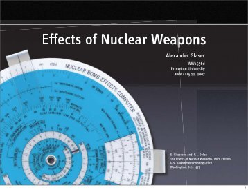 Effects of Nuclear Weapons - Rad Resilient City