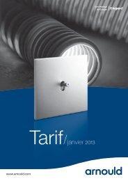 Tarif Arnould janvier 2013