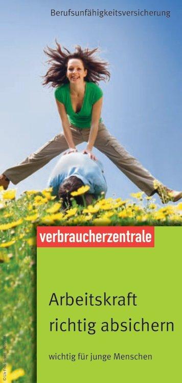 Arbeitskraft richtig absichern - Verbraucherzentrale Niedersachsen
