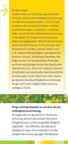 Arbeitskraft richtig absichern - Verbraucherzentrale Niedersachsen - Seite 7