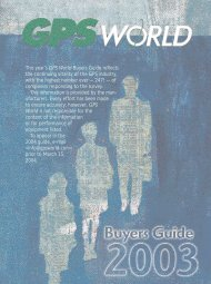 This year's GPS World Buyers Guide reflects the continuing vitality of ...