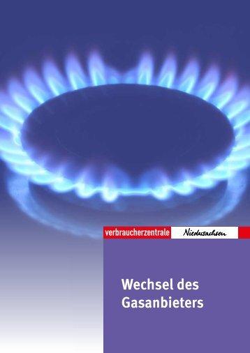 Wechsel des Gasanbieters - Verbraucherzentrale Niedersachsen