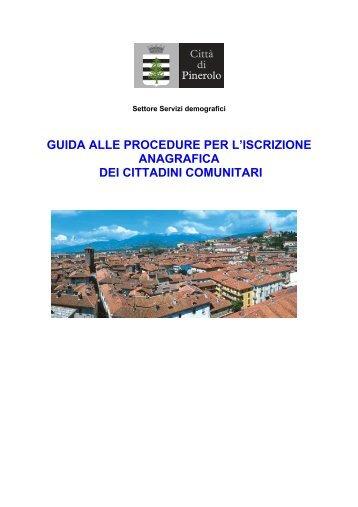 guida alle procedure per l'iscrizione anagrafica dei cittadini comunitari