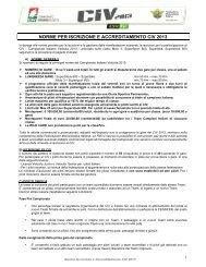 Norme Iscrizione e Accreditamento - CIV 2013