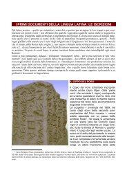 i primi documenti della lingua latina: le iscrizioni - Luzappy.eu