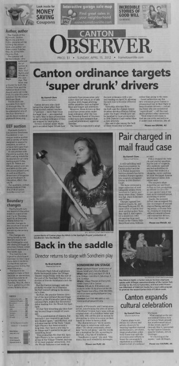 Canton Observer for April 15, 2012 - Canton Public Library