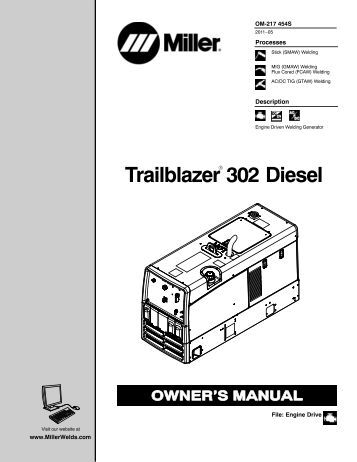 miller legend® 302 semirca ca trailblazer 302 diesel miller electric