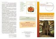 Calendario dei corsi ottobre – dicembre 2010 - Centro Studi Podresca