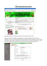 WG - GUIDA PER I NUOVI UTENTI Home page del gioco. Per ...