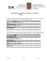 Scarica il questionario per gli studenti - Liceo Classico Statale ...