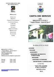 CARTA DEI SERVIZI - Pprg.Infoteca.It