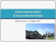 Corsi intensivi estivi 2010 - informazioni utili (pdf, it, 869 KB, 5/17/10)