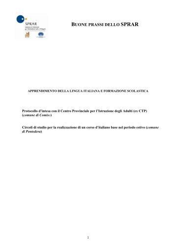 Apprendimento della lingua italiana e ... - Servizio Centrale