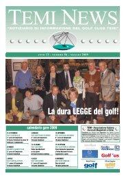 Temi News n. 56 maggio 2009 (formato PDF) - Temigolf.It