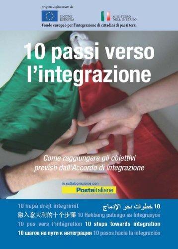 Dieci passi verso l'integrazione - Ssai