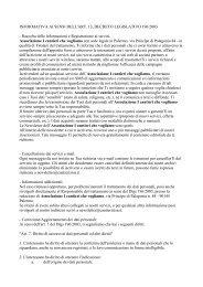 informativa sulla privacy - Cantieri Zisa