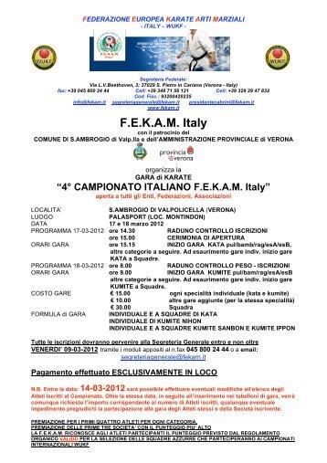FEKAM Italy
