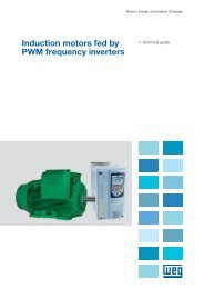 Induction motors fed by PWM frequency inverters - Weg