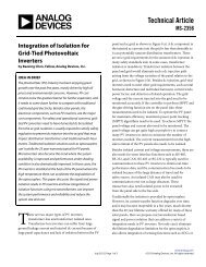 MS-2356: Integration of Isolation for Grid-Tied Photovoltaic Inverters