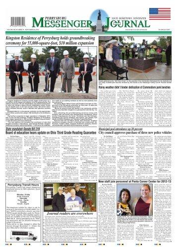 September 26, 2012 PDF Edition of the Perrysburg Messenger Journal