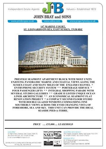 price …. £55000…. leasehold 147 marine court, st. leonards ... - Vebra